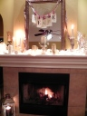 Our friend's decorated mantle... looks like Southern Living!